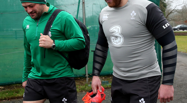 In the running: Rory Best and Sean O'Brien are two candidates to take over as captain of Ireland