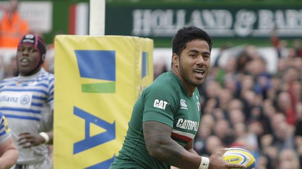 England centre Manu Tuilagi was named among the Leicester replacements for their Aviva Premiership clash against Northampton