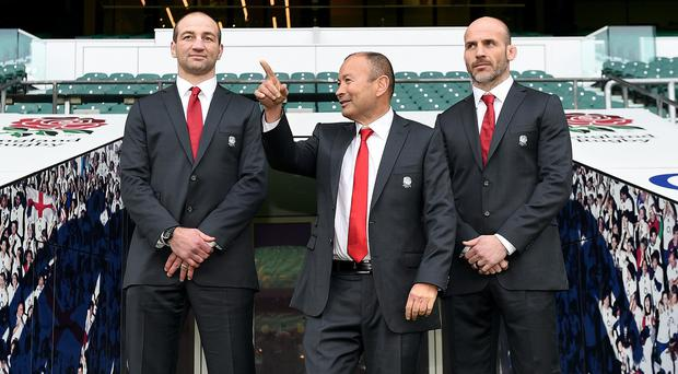 England head coach Eddie Jones (centre) has named a new-look side