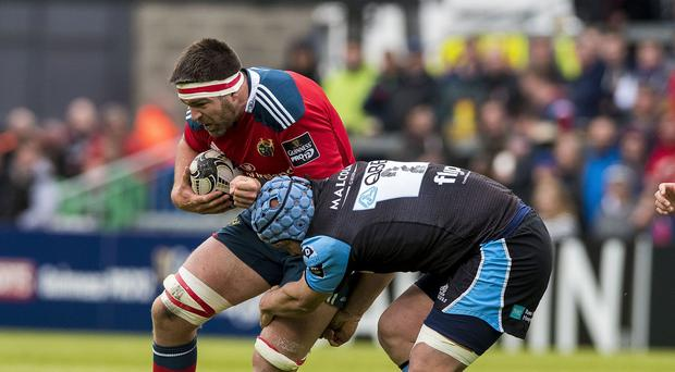CJ Stander, left, produced a man-of-the-match performance for Munster
