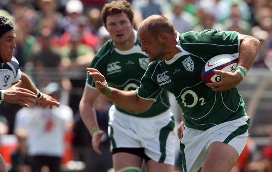 Captain Best: Rory Best in action for Ireland against USA when he skippered Ireland on the tour to North America