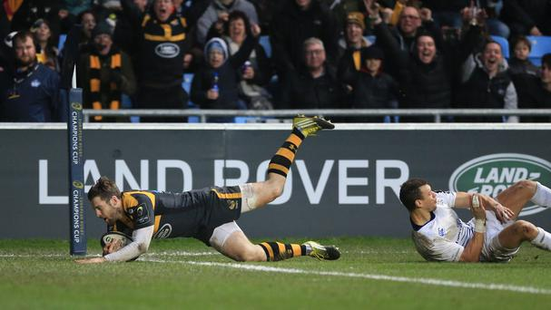 Elliot Daly scores Wasps' third try