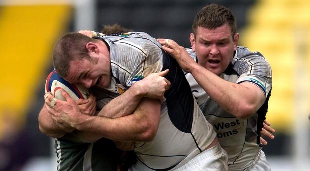 Exeter Chiefs have re-signed second-row forward Lewis Stevenson