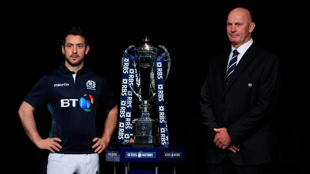 Greig Laidlaw, left, and Vern Cotter want to make things difficult for England at Murrayfield