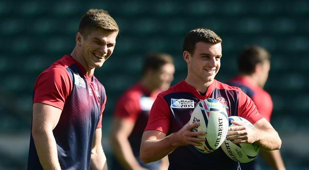 George Ford, right, and Owen Farrell, left, have the chance to impress in England's midfield