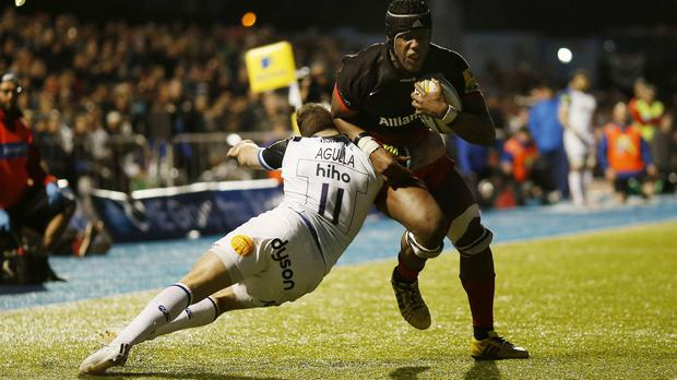 Maro Itoje was in inspirational form for Saracens against Bath