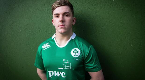 Lining up: Ulster starlet Adam McBurney starts for Irish U20s