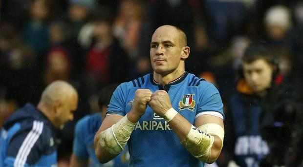 Sergio Parisse, pictured, continues to bear Italy's RBS 6 Nations hopes on his shoulders