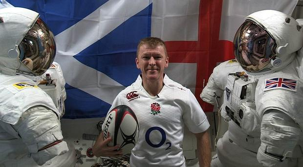 British astronaut Tim Peake will watch England's Calcutta Cup clash with Scotland on a live stream from spave