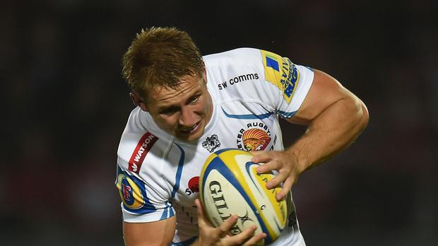 Exeter centre Sam Hill, pictured, is fit again after ankle and hamstring injuries