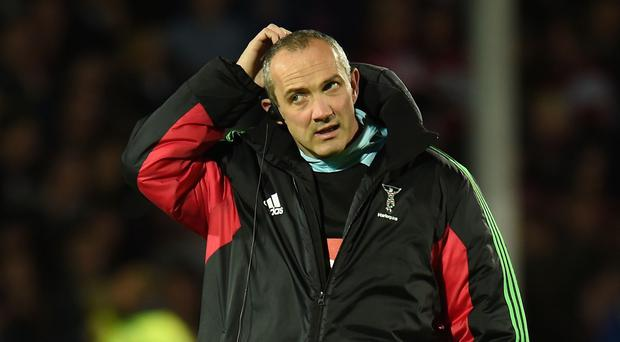 Harlequins director of rugby Conor O'Shea was left scratching his head after losing to Northampton