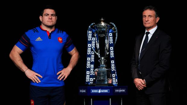 France head coach Guy Noves (right) saw his side edge out Italy in their Six Nations opener