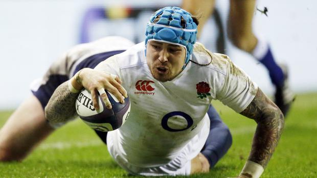 England's Jack Nowell scored his side's second try during the match against Scotland at BT Murrayfield Stadium