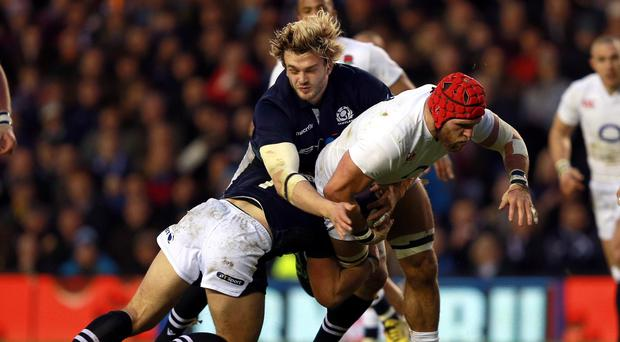 England's James Haskell admitted he was relieved to get out of Murrayfield with a win