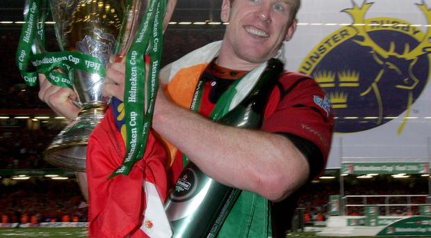 Prize guy: Paul O'Connell won two Heineken Cups