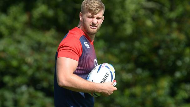 England lock George Kruis is ready for an arm-wrestle against Italy