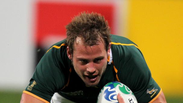 South Africa's Francois Hougaard has joined Worcester Warriors until the end of the season.