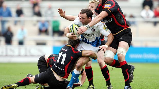 Newport Gwent Dragons winger Matthew Pewtner (number 11) has been forced to retire from rugby on medical grounds.