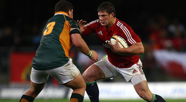 Prop Werner Kruger, pictured in action against the British & Irish Lions in 2009, has joined the Scarlets on a three-year deal.