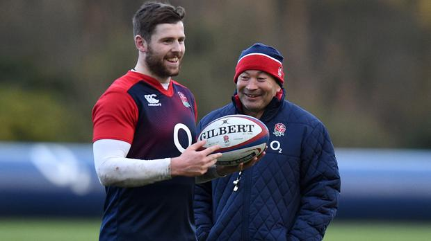 Steve Borthwick has backed Eddie Jones, right, in knowing exactly when to blood uncapped star Elliot Daly, left