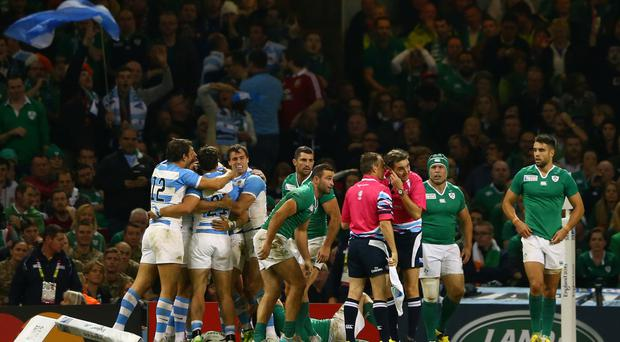 Heartbreak: Ireland's World Cup dream comes to a shattering end against Argentina in Cardiff