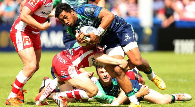 Bundee Aki was among the try-scorers for Connacht in their win over Edinburgh