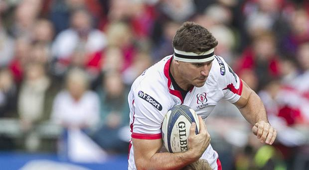 Paul Marshall scored the fourth Ulster try