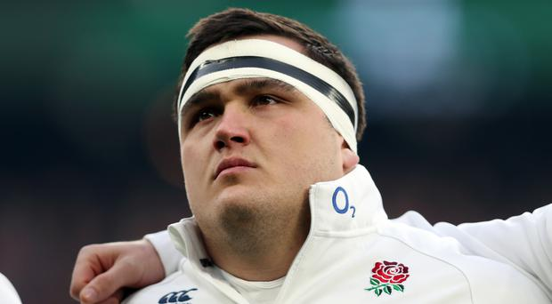 England hooker Jamie George has been ruled out against Wales by a bicep injury