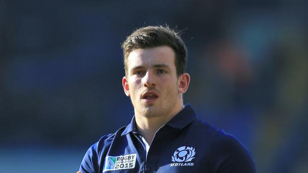Scotland centre Matt Scott has suffered elbow ligament damage
