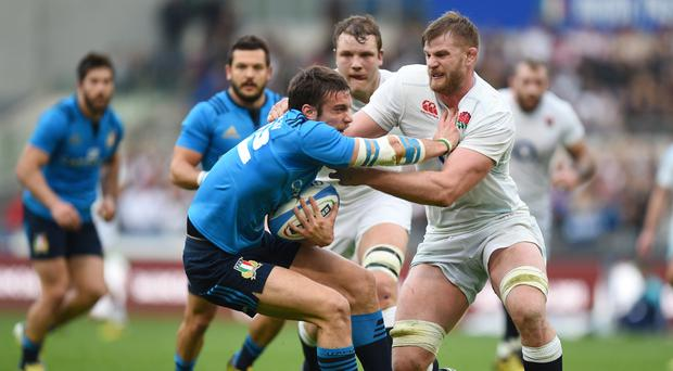 Edoardo Padovani, left, will start at fly-half for Italy in Saturday's RBS 6 Nations clash with Ireland in Dublin