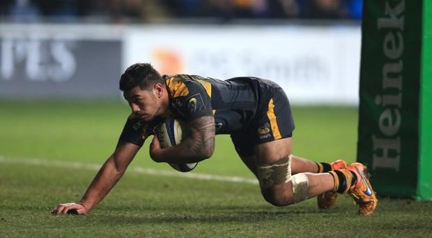There were two tries for Wasps' Charles Piutau