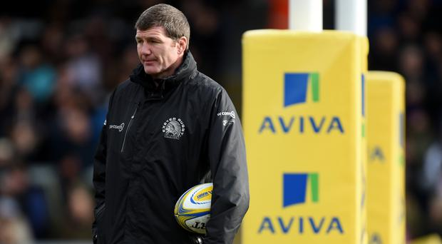 Exeter's head coach Rob Baxter saw his side beat Newcastle