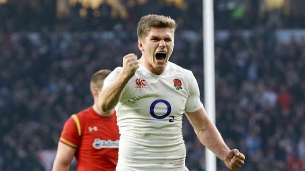 England's Owen Farrell celebrates victory after the 2016 RBS Six Nations match at Twickenham