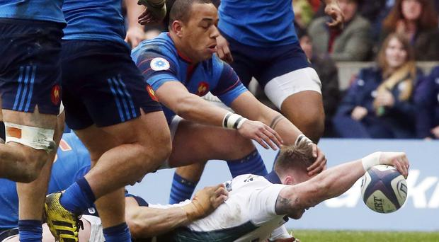 Stuart Hogg was named man of the match after scoring a try and a penalty for Scotland