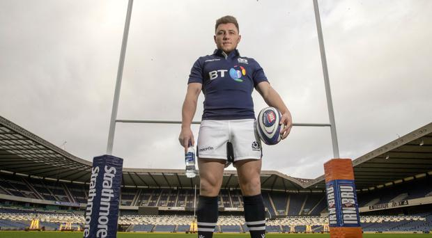 Duncan Weir, pictured, replaces Finn Russell at stand-off for Scotland