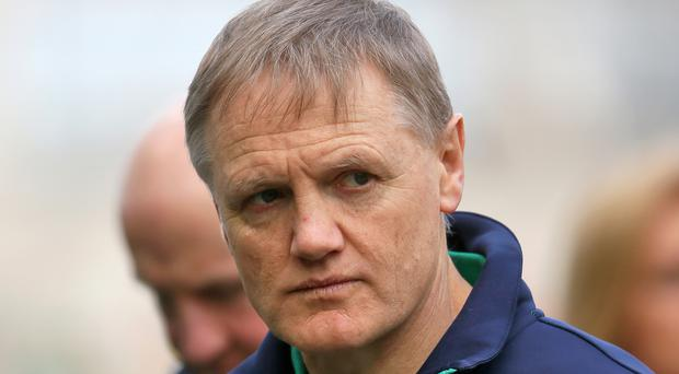 Captain Rory Best and assistant coach Greg Feek admit they would love to see boss Joe Schmidt, pictured, stay on and coach Ireland to Rugby World Cup 2019