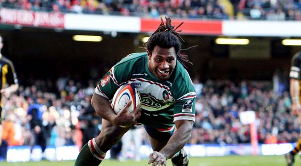 Leicester Tigers will bid to claim an Aviva Premiership victory over Saracens at Welford Road on Saturday in tribute to former winger Seru Rabeni, pictured, who died this week aged 37
