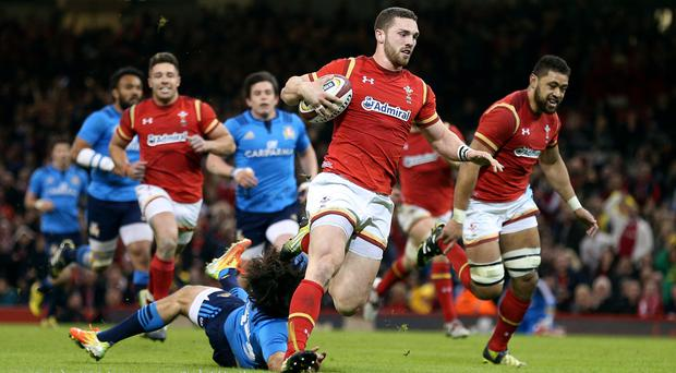 George North was outstanding for Wales against Italy