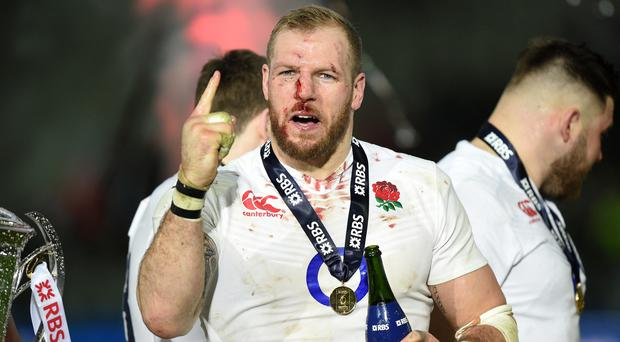 James Haskell was one of England's stars in their victory in France - despite struggling with a back injury beforehand