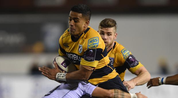 Rey Lee-Lo scored his first try for Cardiff Blues