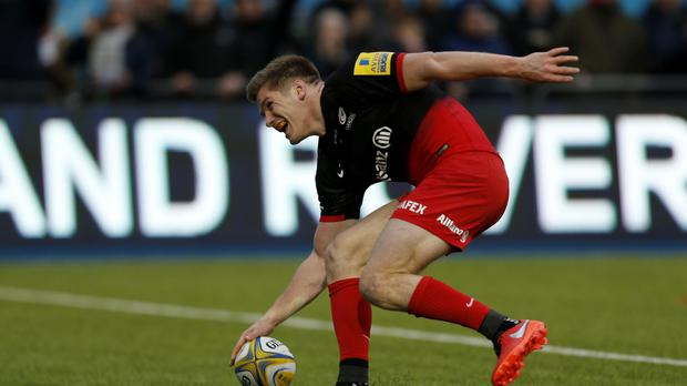 England star Owen Farrell made a try-scoring return to Saracens colours