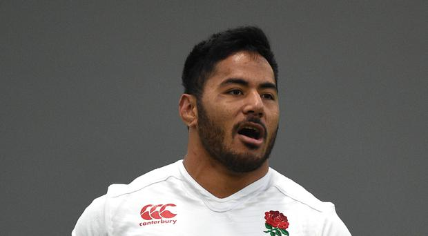 Manu Tuilagi, pictured, believes Leicester coach Aaron Mauger can help him thrive at inside centre