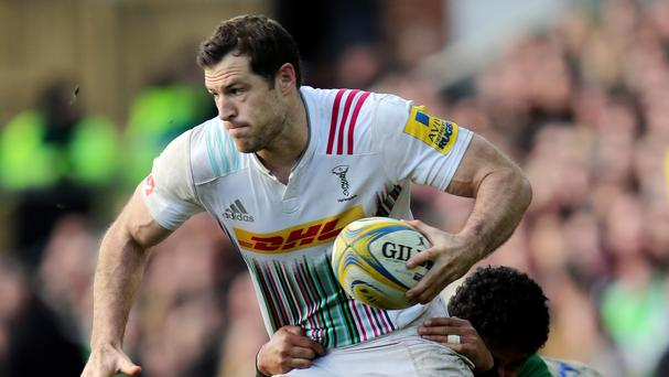 Tim Visser scored a try in either half to help Harlequins see off Newcastle