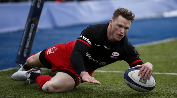 Saracens wing Chris Ashton found it hard to watch England's Grand Slam success while he was suspended