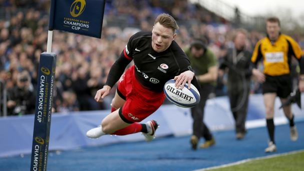Saracens' Chris Ashton scored the key try against Northampton