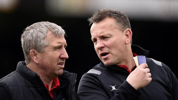 Lyn Jones, left, is not in the running for Harlequins' director of rugby job, according to Conor O'Shea