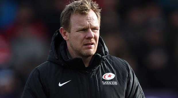 Mark McCall's Saracens face Wasps at the Madejski Stadium on Saturday