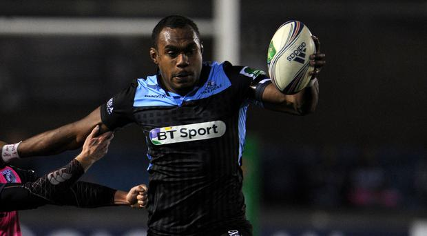 Leone Nakarawa touched down for a hat-trick of tries for Glasgow