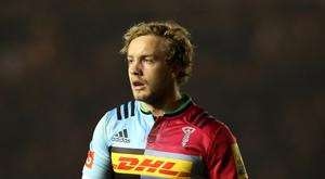Harlequins' Charlie Walker scored two tries to help down London Irish