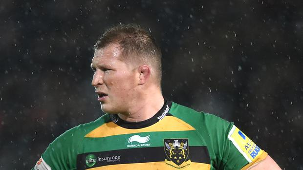 England captain Dylan Hartley returned to action with Northampton following injury